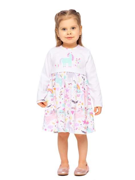 Платье с длинным рукавом Веселый малыш Единорожка, р. 86