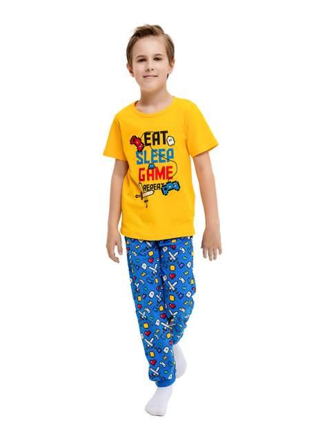 Пижама детская Веселый малыш, цв. разноцветный р.134