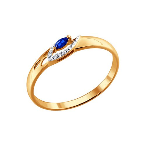 Кольцо женское SOKOLOV из золота с бриллиантами и сапфиром 2010961 р.17