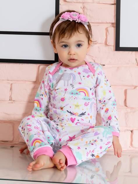 Комплект одежды Веселый малыш, цв. розовый