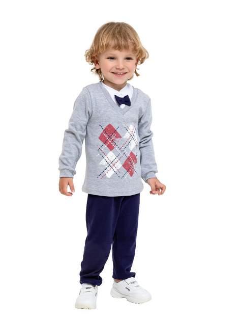 Комплект одежды Веселый малыш, цв. серый р.80
