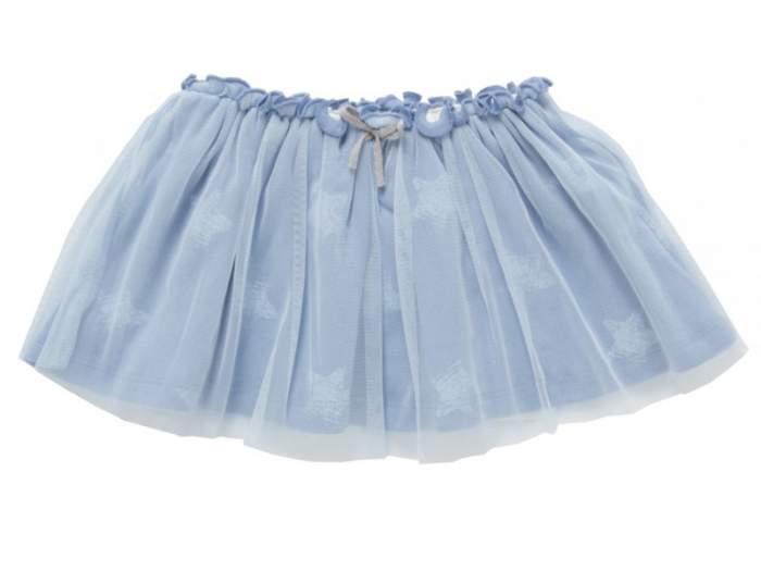 Юбка детская artie, цв. голубой, р-р 86