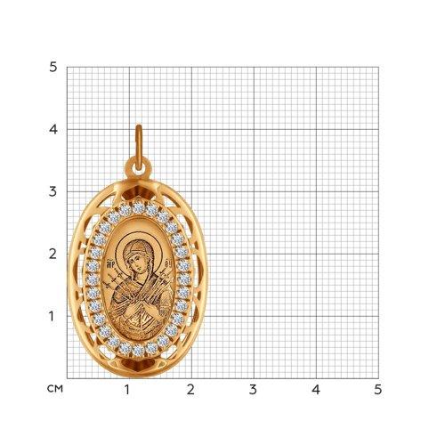 Иконка «Икона Божьей Матери, Семистрельная» SOKOLOV 103495