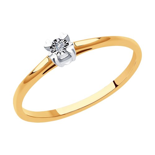 Кольцо женское SOKOLOV из золота с бриллиантом 1011925 р.16.5