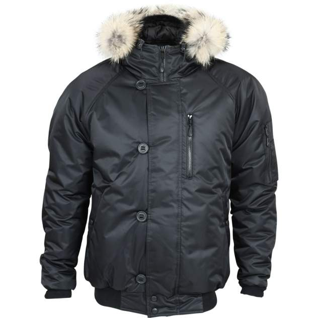 Куртка Аляска укороченная черная твил 52-54/170-176