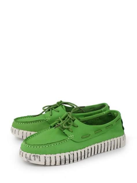 Мокасины женские BERTEN BSL 20-918 зеленые 36 RU