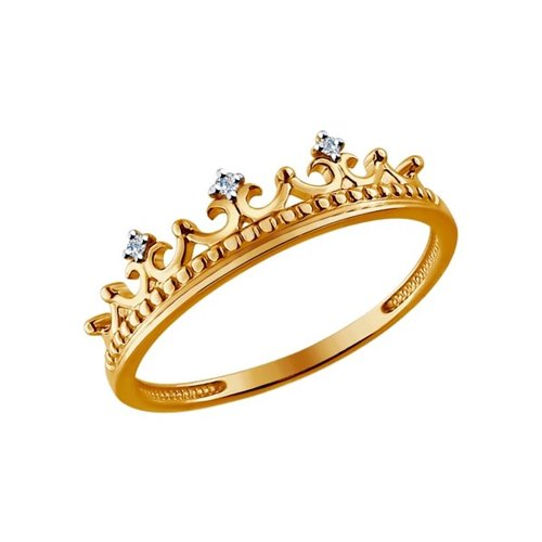 Кольцо женское «Корона» SOKOLOV из золота с бриллиантами 1011449 р.16
