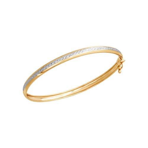 Браслет женский жёсткий SOKOLOV из золота с алмазной гранью 050366 р.17