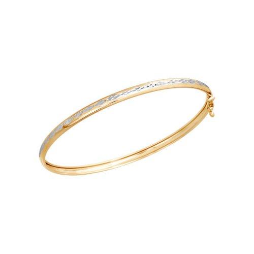 Браслет женский жёсткий SOKOLOV из золота с алмазной гранью 050364 р.17