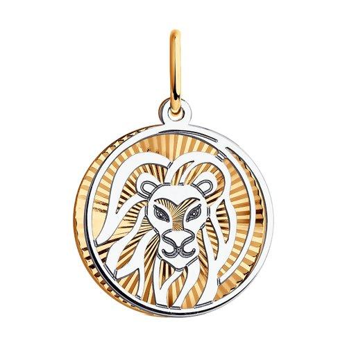 Подвеска SOKOLOV из комбинированного золота с алмазной гранью 035703