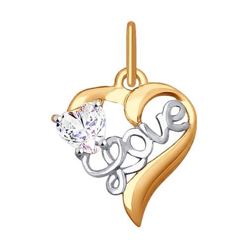 Подвеска «Love» SOKOLOV из золота 035290