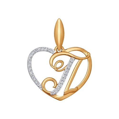 Подвеска-буква «П» SOKOLOV из золота 034661
