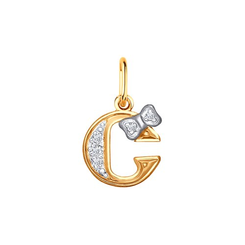 Золотая подвеска-буква «С» SOKOLOV 030668
