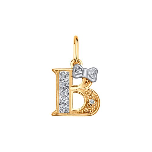 Подвеска-буква «В» SOKOLOV из золота 030652