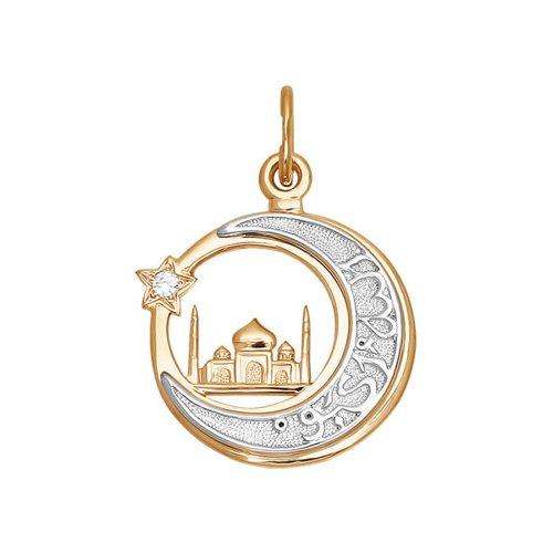 Мусульманская подвеска SOKOLOV из комбинированного золота 030042