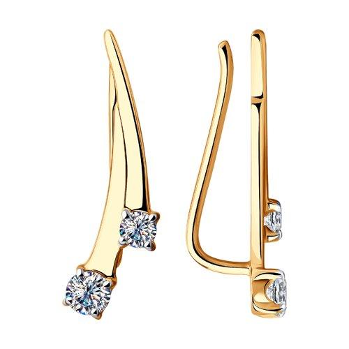 Серьги женские из золота SOKOLOV 028589, фианит