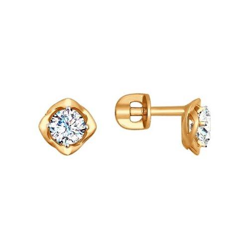 Серьги женские из золота SOKOLOV 027468, фианит