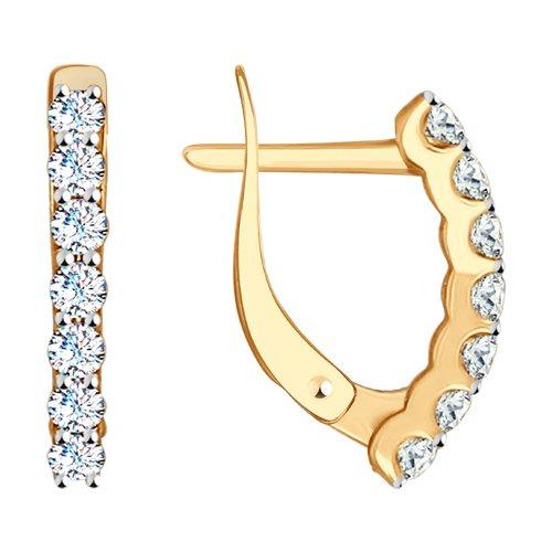 Серьги женские из золота SOKOLOV 027167, фианит