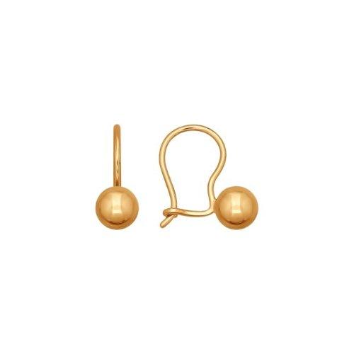 Серьги женские из золота SOKOLOV 026752, без вставки