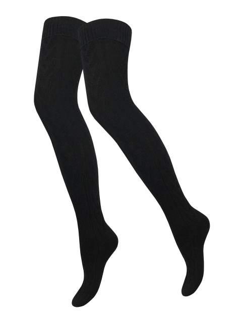 Гольфины женские Trasparenze Wigwag over-knee черные 1/2