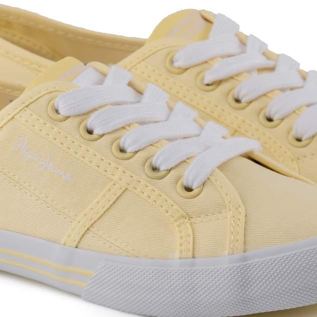 Кеды женские Pepe Jeans ABERLADY ECO PLS31016 желтые 40 EU