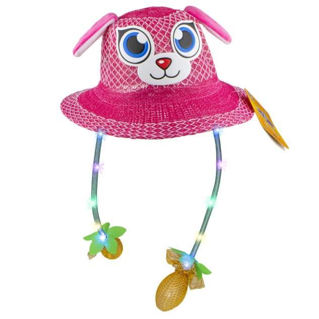 Шляпка летняя с глазками 1TOY Хлоп-Ушки с поднимающимися ушками и светом, в ассортименте