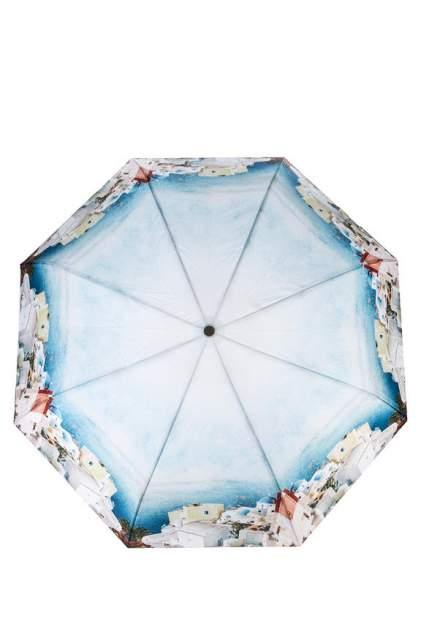 Зонт складной женский автоматический Eleganzza А3-05-0533LS 03 голубой/белый