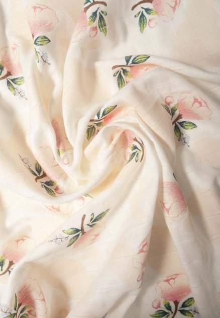 Пеленка Сонный гномик муслин розы