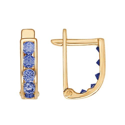 Серьги SOKOLOV из золота с фианитами 021500