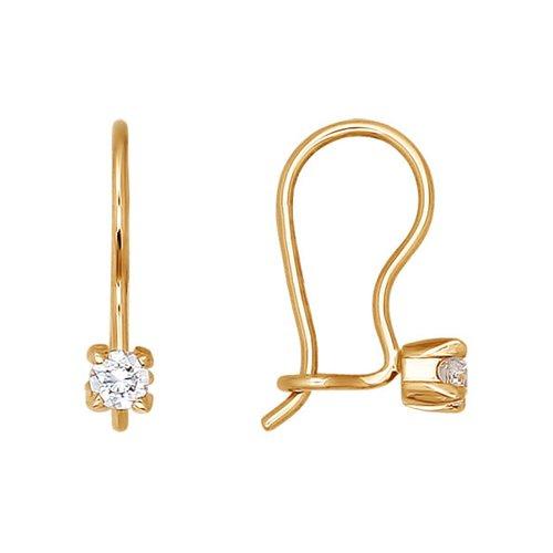 Серьги SOKOLOV из золота с фианитами 020596