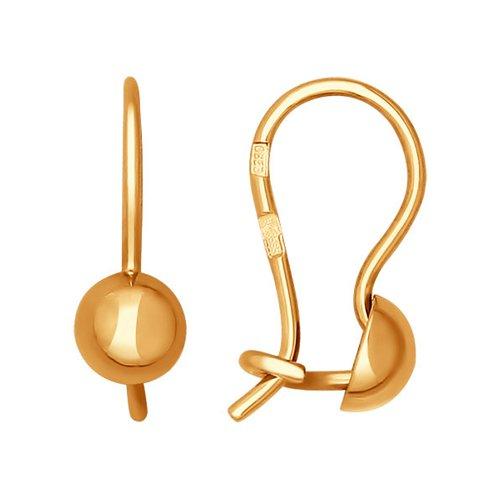 Детские золотые серьги в стиле минимализма SOKOLOV