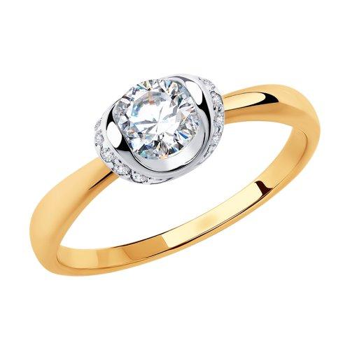 Кольцо женское SOKOLOV из золота с фианитами 018253 р.19