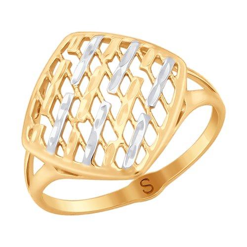 Кольцо женское SOKOLOV из золота с алмазной гранью 017998 р.17