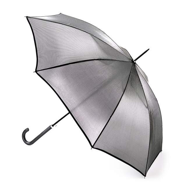 Зонт-трость женский автоматический Fulton L903-011 серебристый