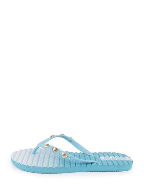 Шлепанцы женские BERTEN AHN-002 голубые 37 RU