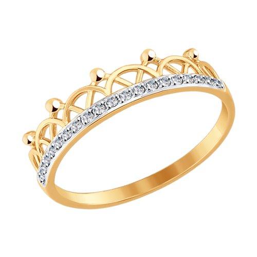 Кольцо женское SOKOLOV из золота с фианитами 017578 р.17