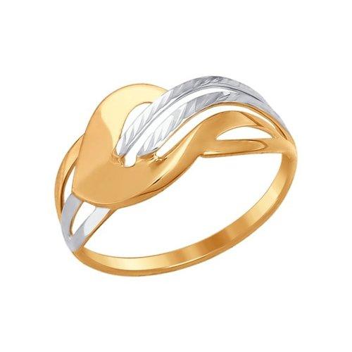 Кольцо женское SOKOLOV из золота с алмазной гранью 017243 р.17.5