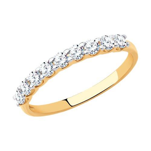 Кольцо женское SOKOLOV из золота с фианитами 017169 р.15.5