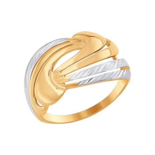 Кольцо женское SOKOLOV из золота с алмазной гранью 017107 р.18.5