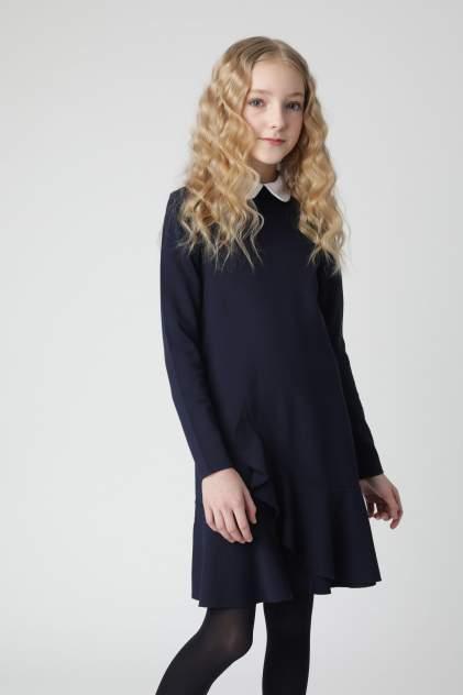 Синее платье из джерси Gulliver 220GSGC5002, размер 134