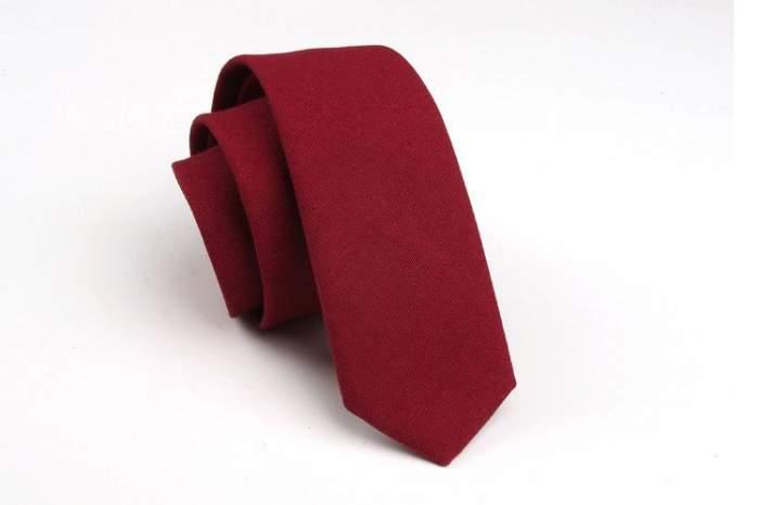 Галстук мужской 2beMan G96 бордовый