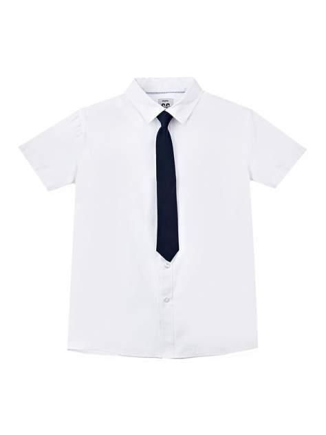 Рубашка PlayToday 22011023_белый, темно-синий р.122