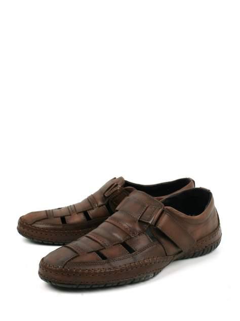 Сандалии мужские Longfield 902-119-A2L коричневые 44 RU