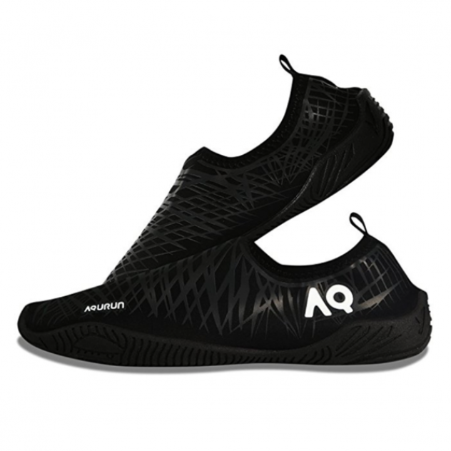 Aqurun тапки Aqua Shoes (45,5, Черный/Серый)