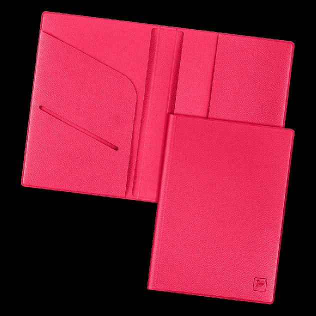 Обложка для паспорта из экокожи Saffiano Flexpocket KOP-01 розовая