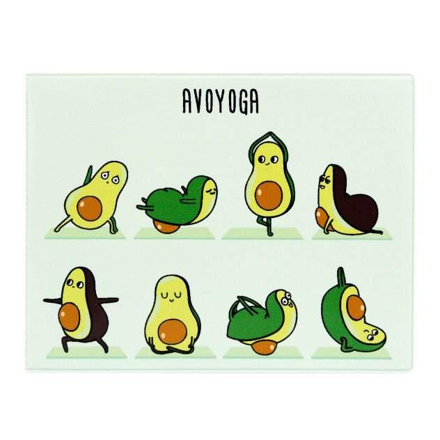 Обложка для студенческого Kawaii Factory KW067 Avoyoga голубая