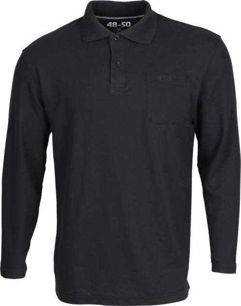 Рубашка Поло д/рукав черная 44-46
