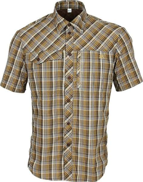 Рубашка Grid короткий рукав chocolate jazzy 43/182-188