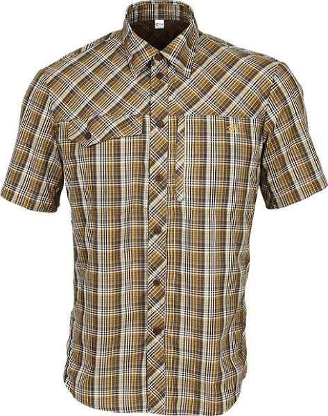 Рубашка Grid короткий рукав chocolate jazzy 40/182-188