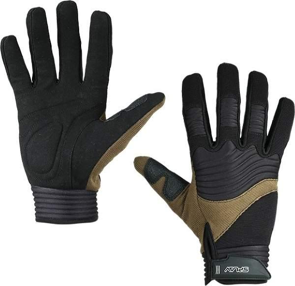 Мужские перчатки Сплав Sector, бежевый, черный